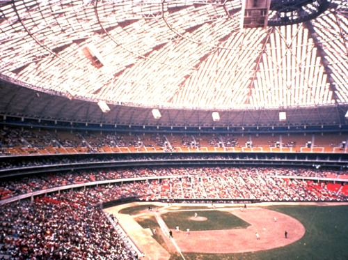 Another relic of 20th-century enterprise: The Houston Astrodome in its former glory