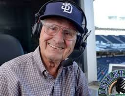 Jerry Coleman doing what he loved best