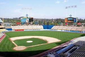 Dodgy: the idea of a whole new stadium for L.A. Welcome back hexagonal scoreboards!—with a 21st.-c. difference.