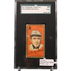 Baseball card of one of the century-ago stars (1905-17)